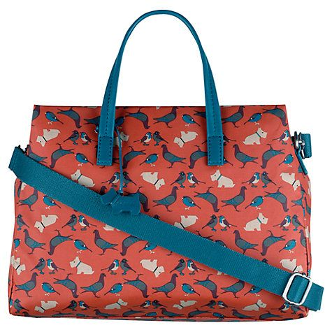 Buy Radley Dog And Bird Medium Grab Bag, Orange Online at johnlewis.com