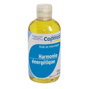 Huile de massage harmonie énergétique USAGE EXTERNE (ne pas avaler).  Huile de massage relaxante aux huiles essentielles.