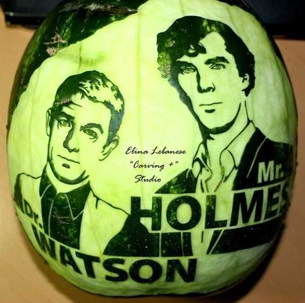 Mr. Holmes And Dr. Watson  30 Awesome And Creative Watermelon Sculptures • Page 5 of 6 • BoredBug