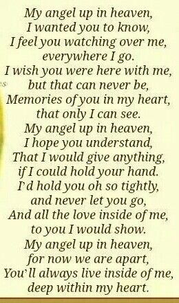 My angels up in heaven...