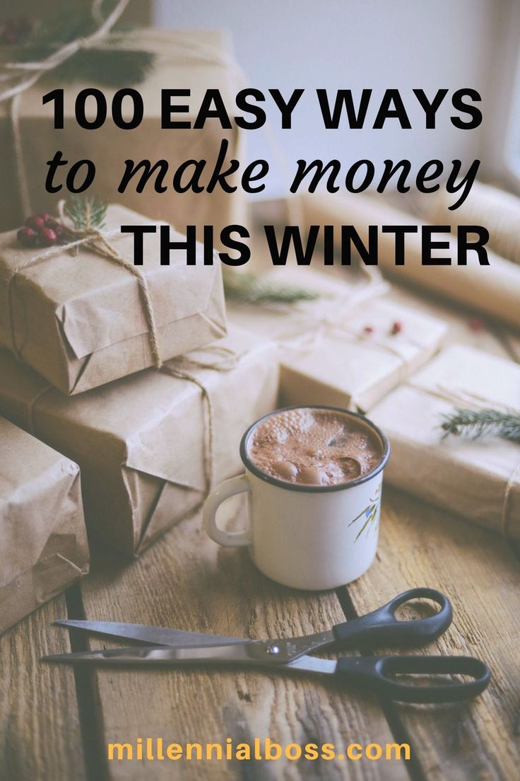 Ways to make money this winter that are actually doable   Easy work from home jobs   winter work from home jobs