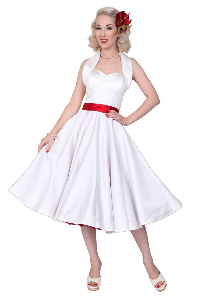 1940s-1950s-Vivien-of-Holloway-Best-Vintage-Reproduction-Halterneck-Circle-Dress-White-Duchess