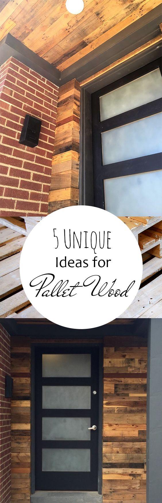 5 Unique Ideas For Pallet Wood