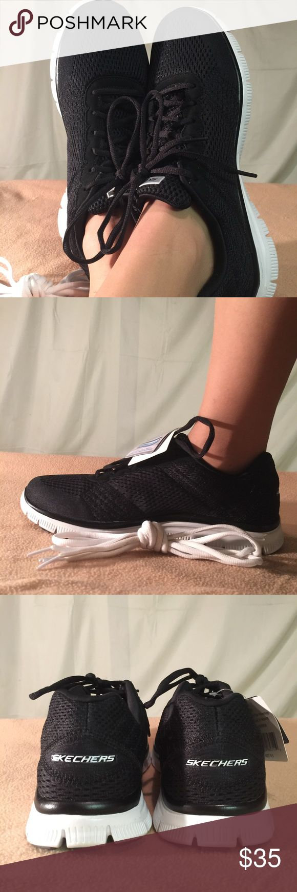 New Skechers Ladies Black Memory Foam Sneakers These shoes are Brand New/Never Worn and are in PERFECT CONDITION. Skechers Shoes Sneakers