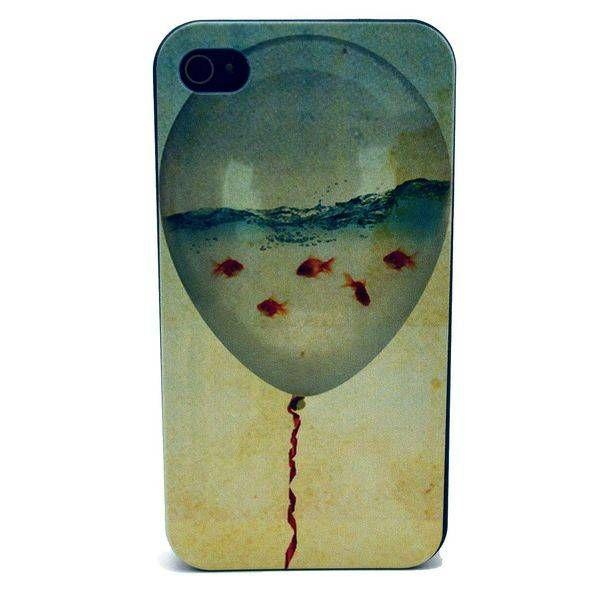 Goudvissen waterballon hardcase hoesje voor iPhone 4 / 4S