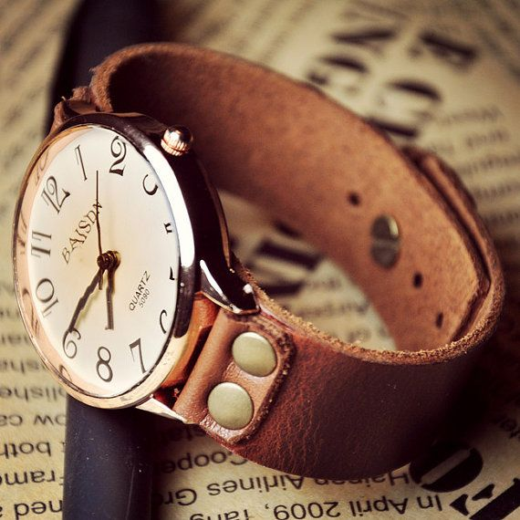 Women's Leather Watch by WatchGraceful on Etsy, $16.99