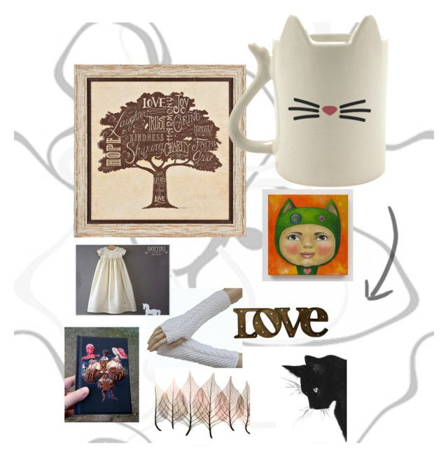 """""""Cat"""" by isabellwoolstudio ❤ liked on Polyvore featuring Artistica"""
