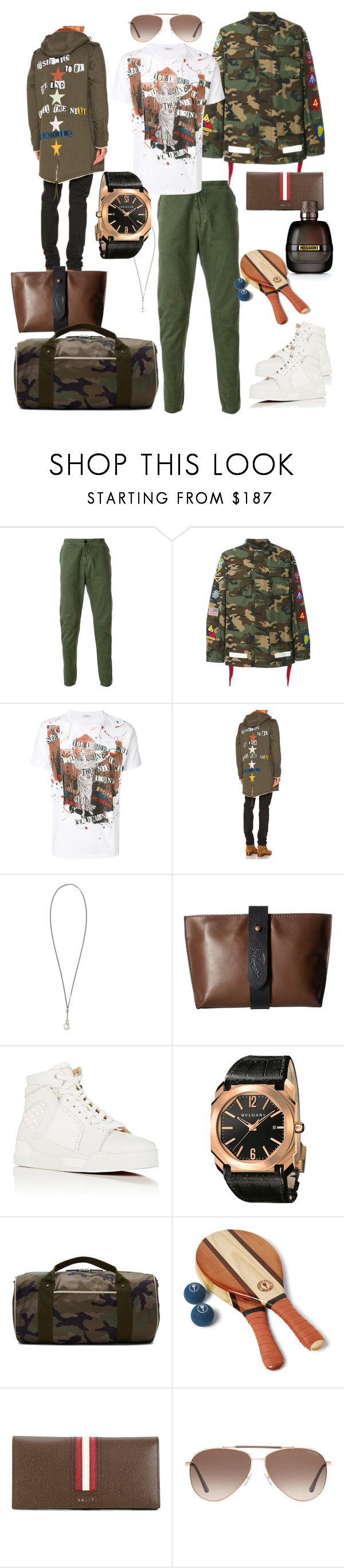 """""""Military motivation.."""" by bm-bojanamilanovic ❤ liked on Polyvore featuring STONE ISLAND, Off-White, Valentino, Ann Demeulemeester, Vivienne Westwood, Christian Louboutin, Bulgari, Frescobol Carioca, Bally and Tom Ford"""