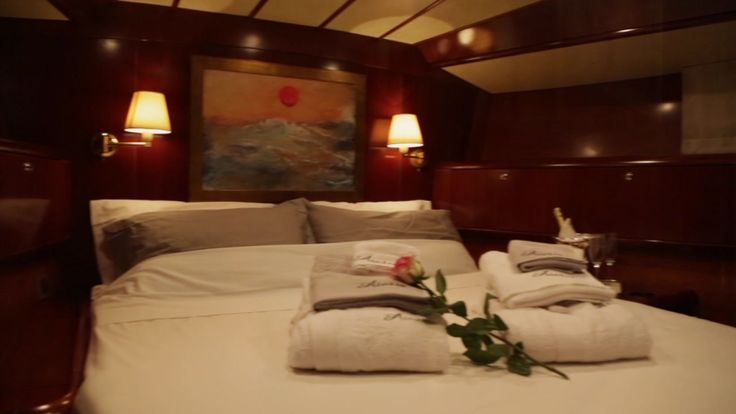 The most romantic place to celebrate your honeymoon is that cozy, sweet cabin! Experience onboard Aiolis an unforgettable sailing cruise in Greece!
