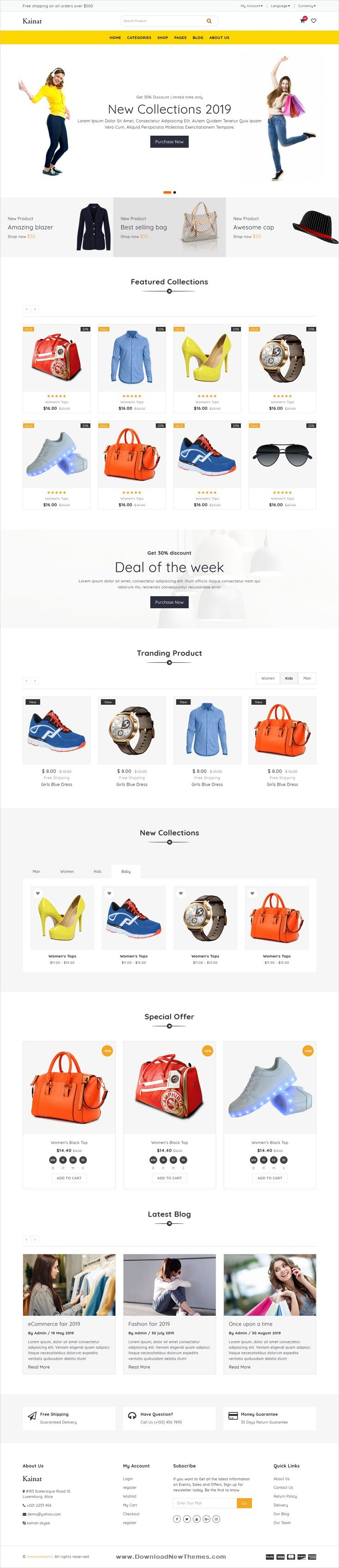 Kainat Multipurpose Bootstrap 4 Template