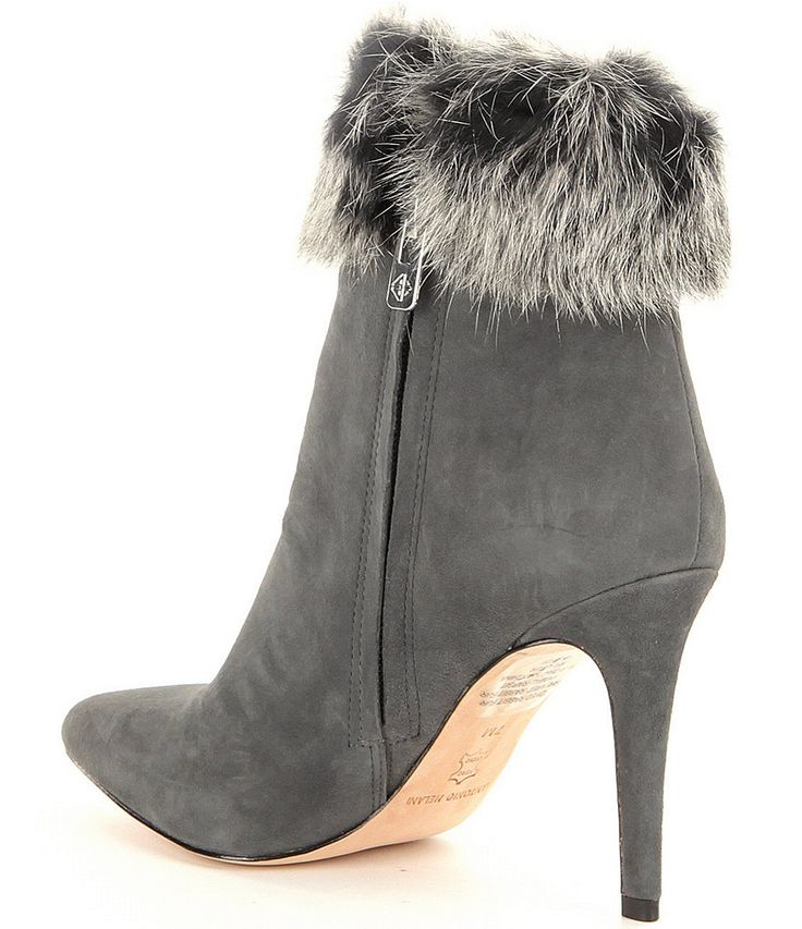 Stonehenge Grey:Antonio Melani Kylan Rabbit Fur Dress Booties