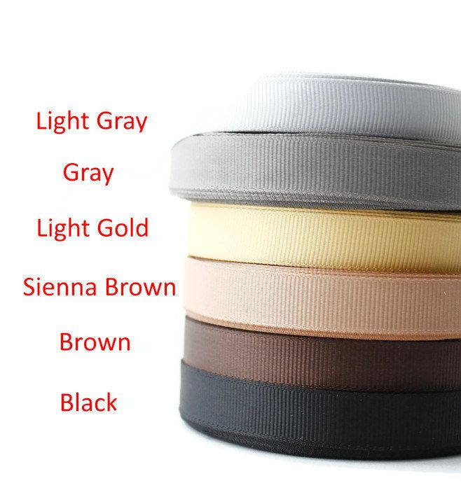 "Scrapbooking Supplies, 1/2"" Grosgrain ribbon, Grosgrain, Gross grain ribbon, Sewing, Dressmaking, Hair bow supplies,Black Gray Brown Palette by TwoChubbyRabbits on Etsy"