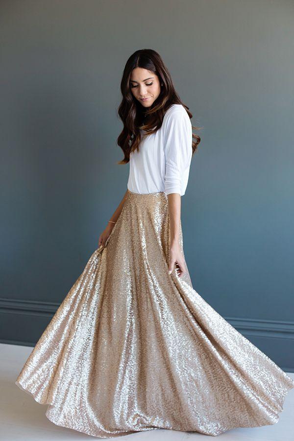 Full sequins maxi skirt                                                                                                                                                                                 More