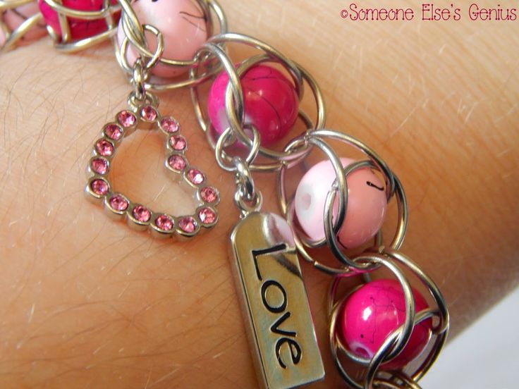 Love Cage Captured Bead Chainmaille {tutorial} #jewelry #jewelrymaking