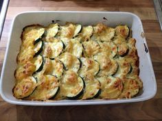 Zucchini-Kartoffel-Auflauf mit Knoblauch #glutenfreie