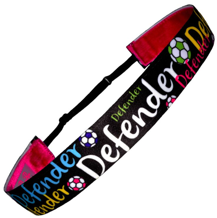 """1"""" Wide. Features our """"Perfect Fit"""" Adjustable Slider that allows you to adjust sizing for a fit that is customized for you. Functional headband lined with our plush velvet ribbon that creates a comfo"""