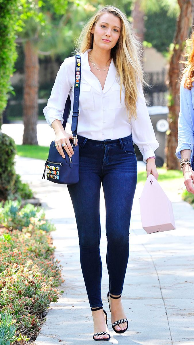 Blake Lively's new $40 jeans are from Old Navy, flattering, and insanely soft. See how she styled them and shop them here.