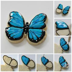 How To Decorate Butterfly Cookies from @Sweetopia