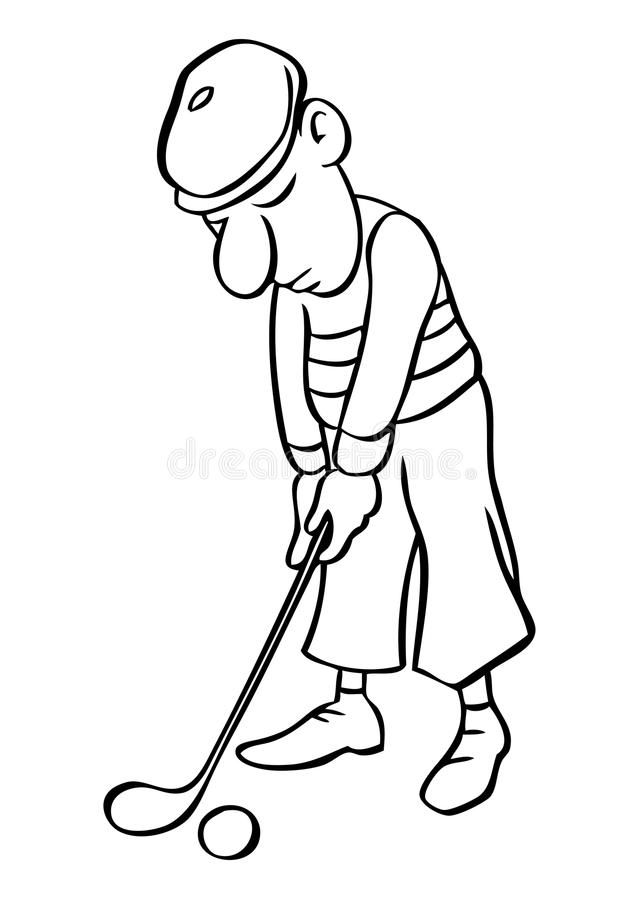 Cartoon Golfer Vector Stock Vector With Images Cartoon