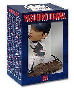 Tokyo Yakult Swallows pitcher Ogawa 2014 bobblehead (winningest version). Parallel import goods. Tokyo Yakult Swallows pitcher Ogawa 2014 bobblehead (winningest version).