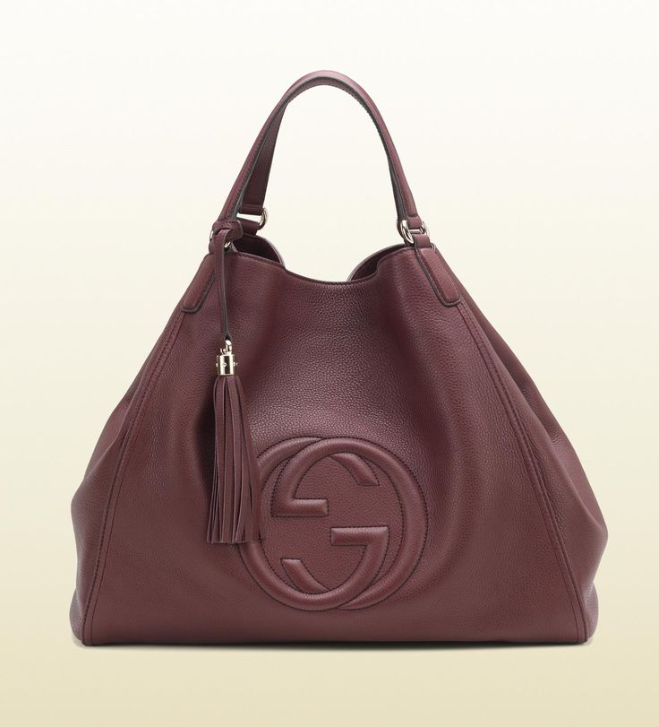 Soho Bordeaux Leather Shoulder Bag Gucci Outlet Onlinegucci Bagshobo