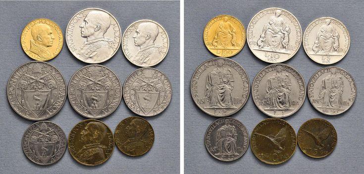 NumisBids: Nomisma Spa Auction 50, Lot 312 : Pio XII (1939-1958) Divisionale 1943 A. V – 100, 10, 5, 2 e una...