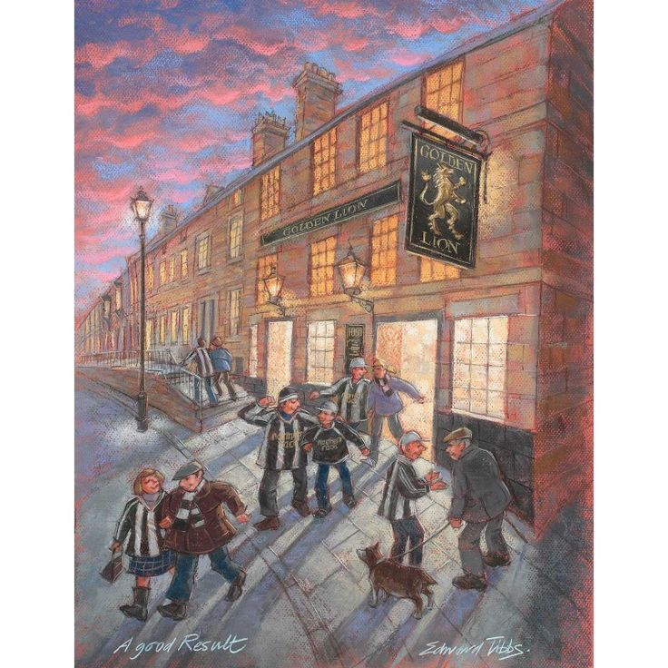 A Good Result - Corbridge signed limited edition print by Edward Tibbs