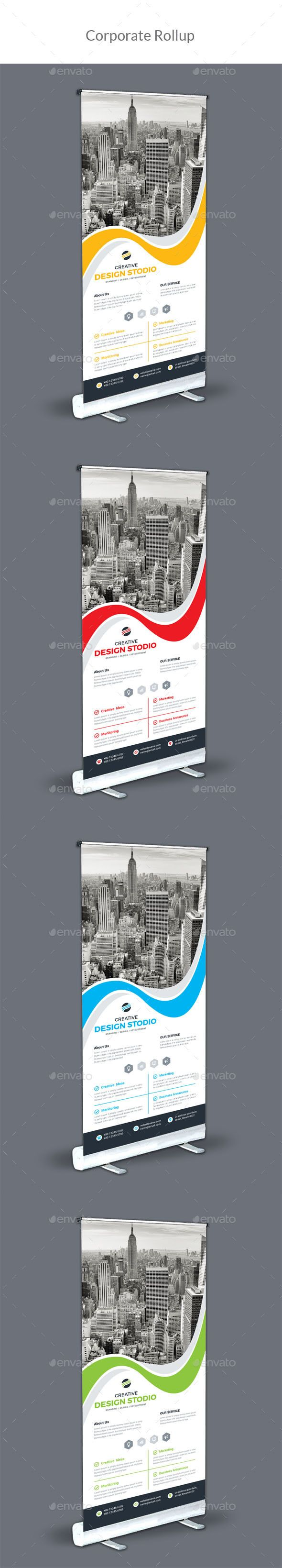Corporate Roll-Up Template Vector EPS, AI #design Download: http://graphicriver.net/item/corporate-roll-up/14263706?ref=ksioks