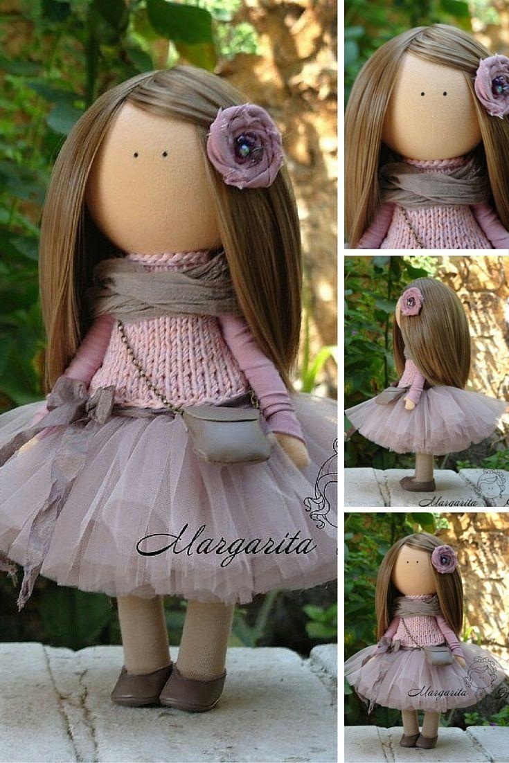 Unique doll Interior doll Handmade doll Rag doll Soft doll Tilda doll Fabric doll Art doll Textile doll Doll toy by Master Margarita Hilko