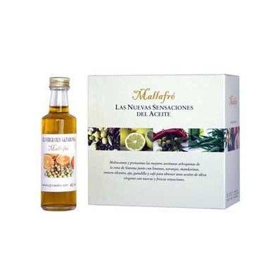 Colección 8 miniaturas de aceites variados  Estuche con 8 variedades distintas de los aceites Mallafré. Producto indicado para los amantes de los aceites de oliva con sabores, y para los coleccionistas http://www.elgourmetcercadeti.com/aceites/608-coleccion-8-miniaturas-de-aceites-variados.html#sthash.CpDeelTG.dpuf