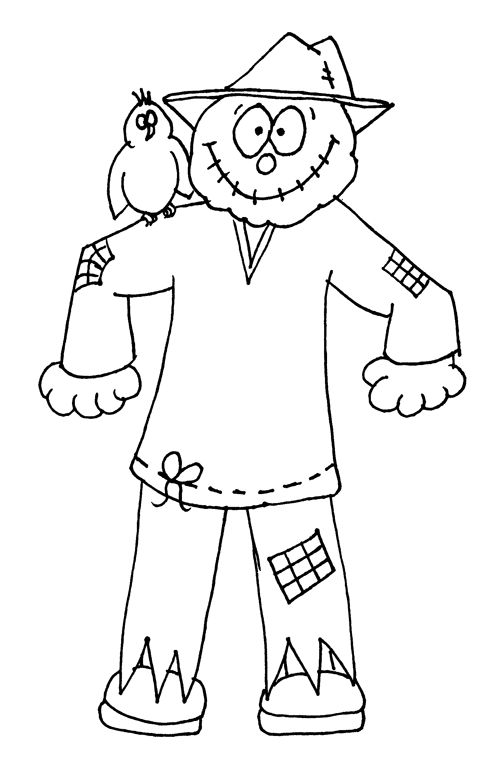 Scarecrow Coloring Pages ready