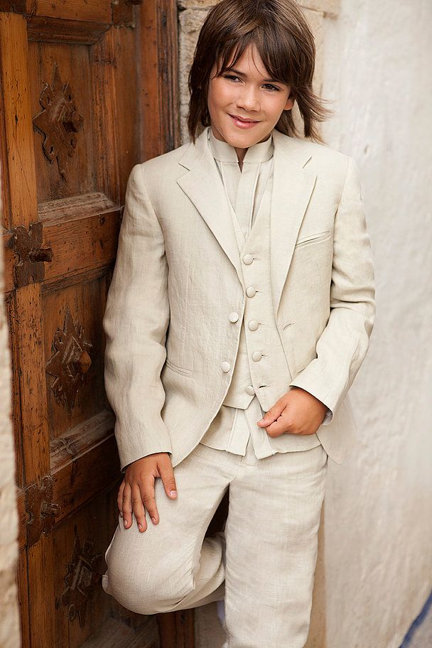 First communion suit linen. Manuel Pardo Moda Masculina. Barcelona