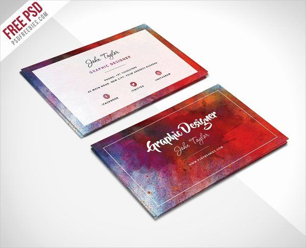 Business Card With Photo Template Lovely 33 Artist Business Cards Free Psd Ai Vector Eps Free Business Card Templates Business Card Psd Business Card Design