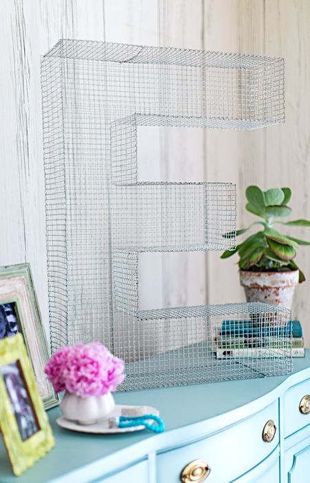 Make a statement with giant wire-mesh letters and numbers. -- Lowe's Creative Ideas