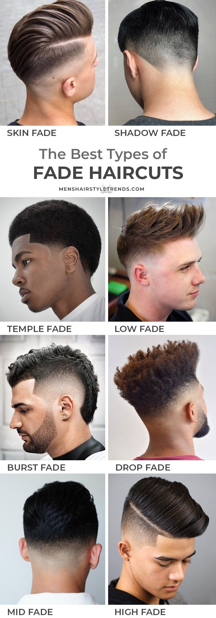 Types Of Fade Haircuts 2021 Update Types Of Fade Haircut Faded Hair Mid Fade Haircut