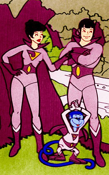 Created by Hanna-Barbera for the 1977 All-New Super Friends Hour TV cartoon, the super twins