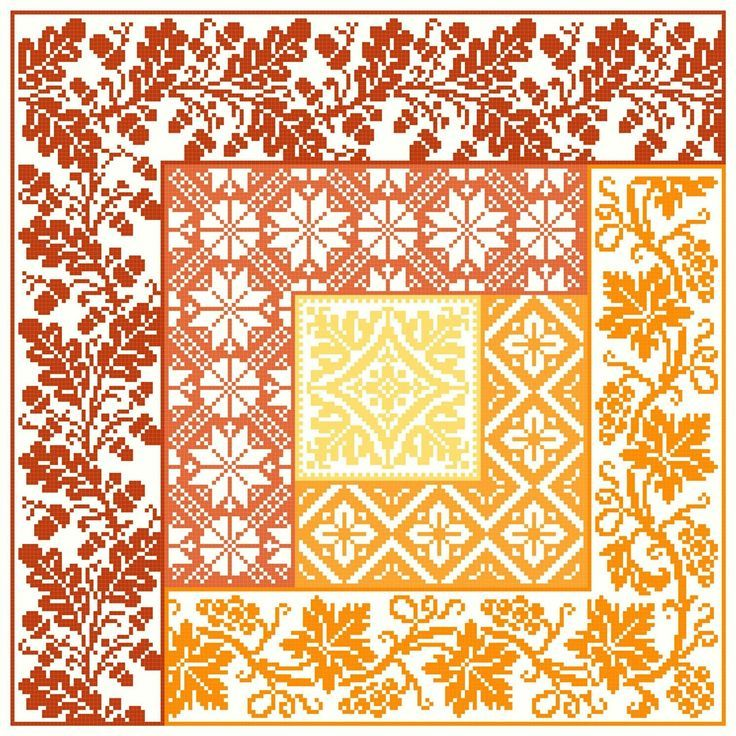 Log Cabin Autumn cross stitch pattern Pdf $8.00 on Gracewood Stitches at http://gracewoodstitches.com/?page_id=1016
