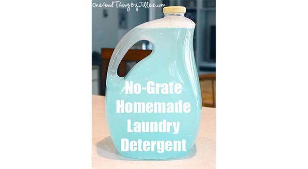 No-Grate Homemade Laundry Soap