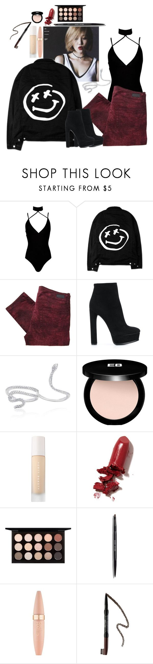 """""""Hwasa"""" by amour-vicieux ❤ liked on Polyvore featuring Boohoo, Diesel, Casadei, Edward Bess, Puma, LAQA & Co., MAC Cosmetics, Bobbi Brown Cosmetics, Maybelline and Forever 21"""