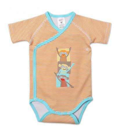 Just got this for my little monkey.  I love the colors.  Monkey Around Baby Short Sleeve Body Wrap