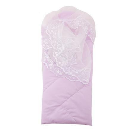 """Плакса Конверт-одеяло Ангел  — 2260р. -------------------------- Конверт-одеяло """"Ангел""""сиреневогоцвета марки Плакса для девочек. Конверт на липучке, выполненный из чистого хлопка, дополнен подкладкой из холлофайбера, которая обеспечивает хорошую вентиляцию и терморегуляцию. Изделие декорировано нежнымкружевом.Конверт на выписку в дальнейшем можно использовать как одеяло для малышки. Размер: 105х105 см."""