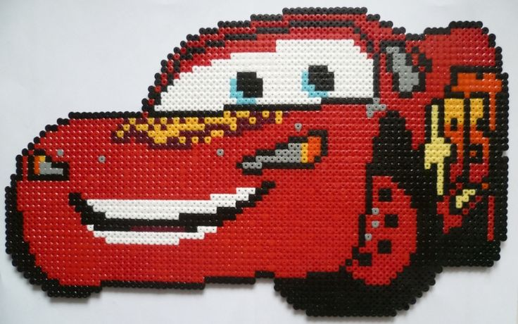 Cars flash mcqueen hama beads by creationperles