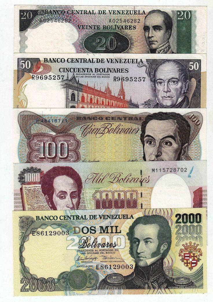 Devaluados, estos ya no existen, pero fueron los billetes que yo conocí toda mi vida! Billetes Venezolanos