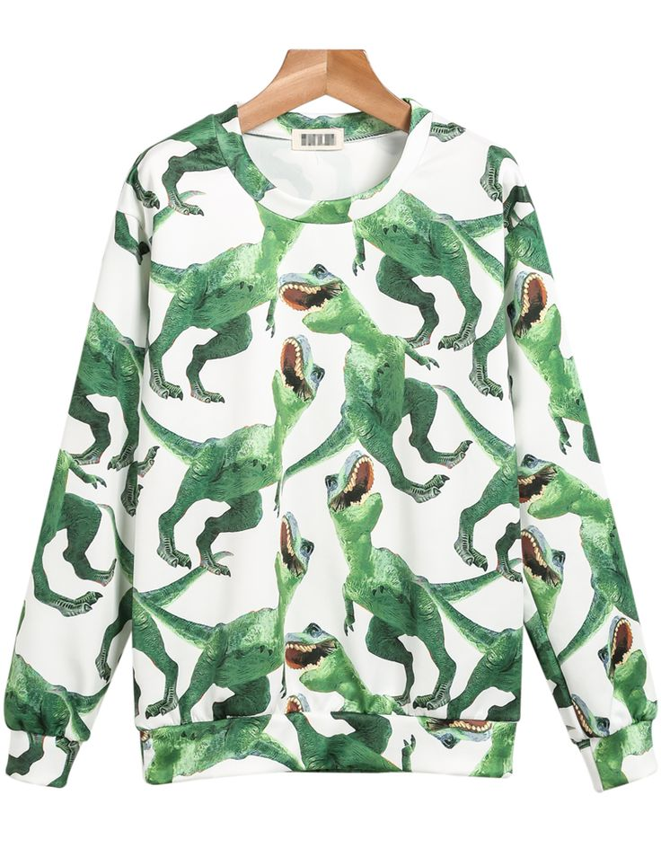 Shop Green Long Sleeve Dinosaurs Print Sweatshirt online. Sheinside offers Green Long Sleeve Dinosaurs Print Sweatshirt & more to fit your fashionable needs. Free Shipping Worldwide!