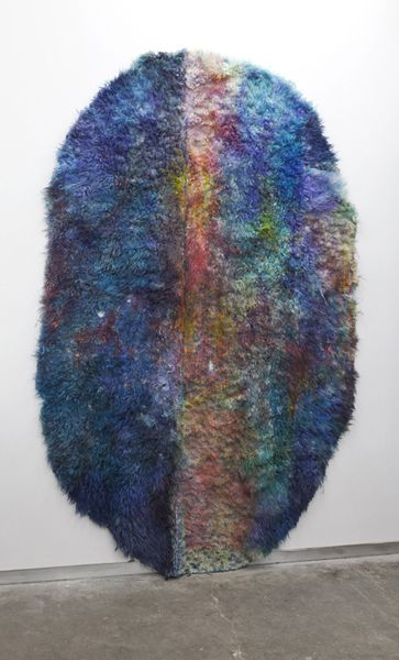 Sculpture. Rug. Amazing.Anna Betbeze. Snake (wool, acid dyes, watercolor). 2011.