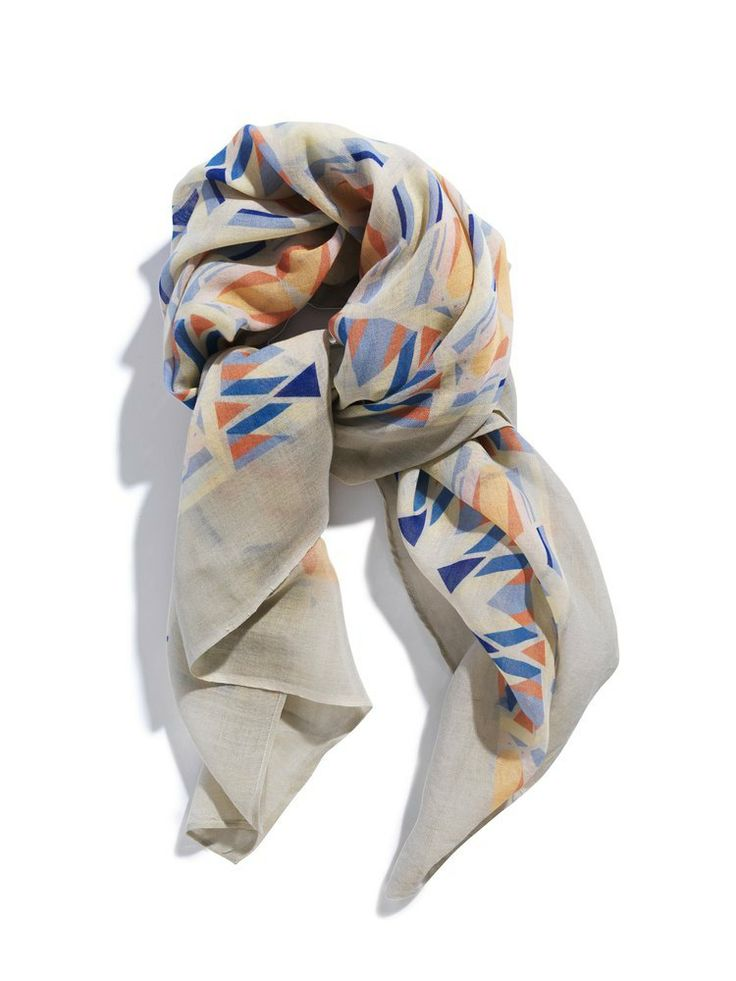 David David® — Silk/cashmere scarf, print Carousel TPX 12