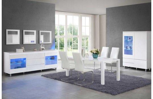 Pour toujours plus de personnalisation nous vous avons déniché une salle à manger design aux couleurs vives et éclatantes. Du blanc pour le côté chic de votre intérieur et une télécommande qui vous permettra de changer l'intensité de la couleur de vos meubles pour créer différentes ambiance. Osez l'originalité ! http://mobiliernitro.com/