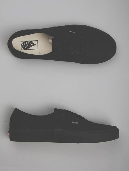 I want all black vans so bad, hopefully I can get them when I go back to school shopping