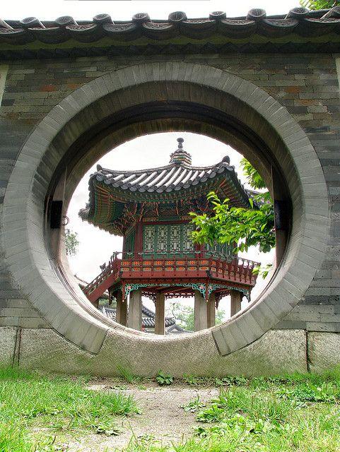 Manwolmun Gate and Sangnyangjeong Pavilion at Nakseonjae, Changdeokgung Palace