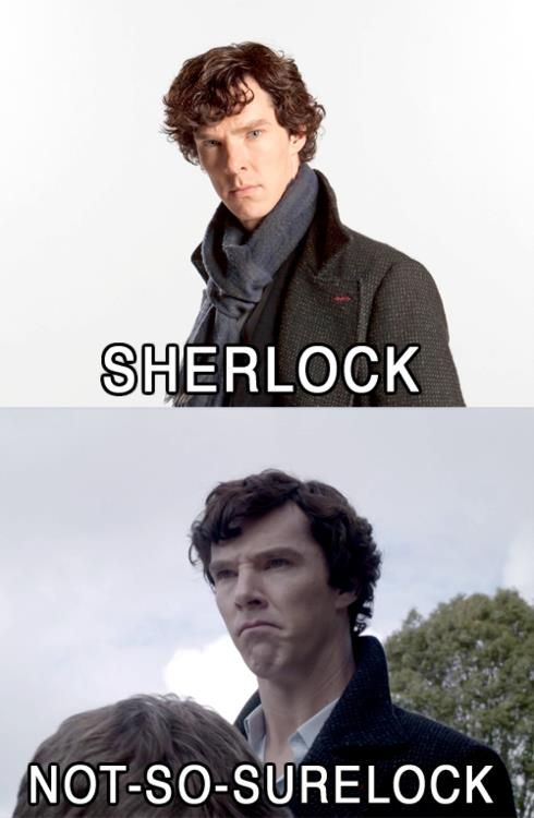 ele-meme-tery monday. sherlock. | So, I had a baby.